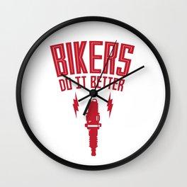 BIKERS DO IT BETTER PLUG Wall Clock