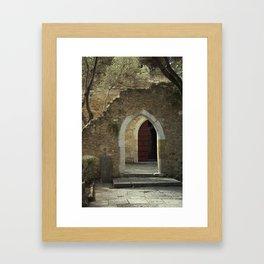 Archways at Castelo de Sao Jorge Framed Art Print