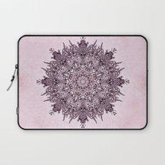 Pink Mandala Fractal Art Laptop Sleeve