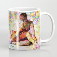 kandinsky Mugs featuring Ballerina In Repose by Mark Compton