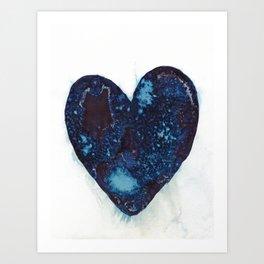 I left my heart by the ocean. Art Print