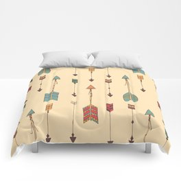 Bohemian hand drawn arrows, 01 Comforters
