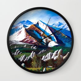 Rocky's Karst Plateau Wall Clock