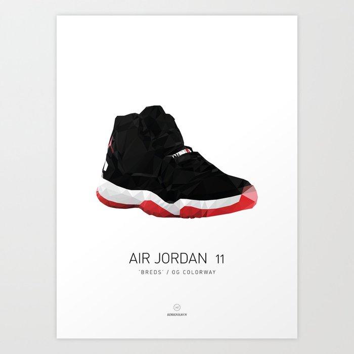 AIR JORDAN 11/BREDS Art Print