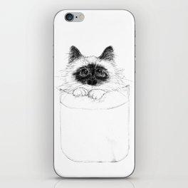 Puss in Pocket (B&W) iPhone Skin