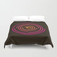 neon Duvet Covers featuring Neon by Jeff Merrick