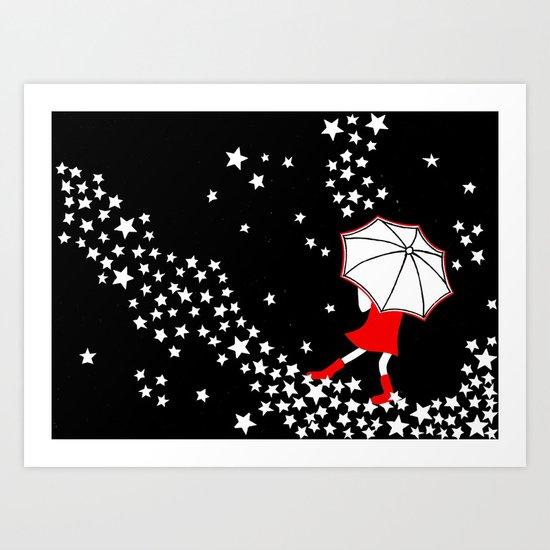a walk in the stars Art Print