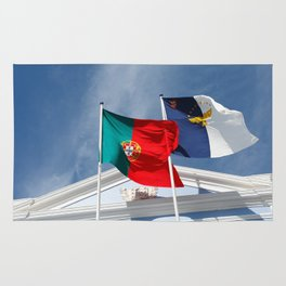 Portugal and Azores flags Rug