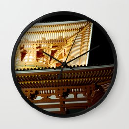 Koyasan temple 2 Wall Clock