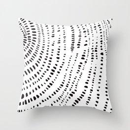 Tree Rings No. 2 Line Art Throw Pillow