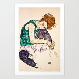 Egon Schiele - Seated Woman With Legs Drawn Up Art Print