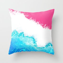 Watercolour Wave Throw Pillow