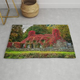 Autumn Tea House Llanrwst Wales Rug
