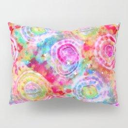 Rainbow Tie Dye Cosmos Pillow Sham