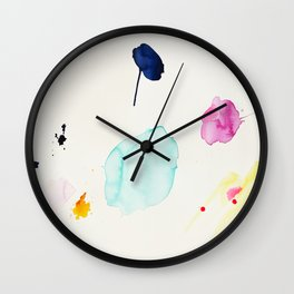 Immeasurable Joy - abstract painting by Jen Sievers Wall Clock
