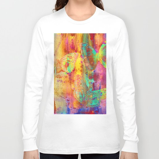 Colorful Butterfles Q Long Sleeve T-shirt
