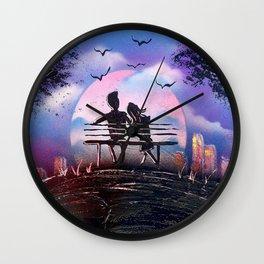 Love at the park Wall Clock
