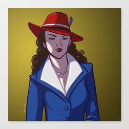 Agent Peggy Carter is on the Case! Canvas Print
