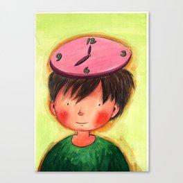 The Clock On My Head Canvas Print