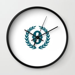 Dark Teal Monogram: Letter O Wall Clock