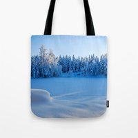 swedish Tote Bags featuring Swedish Winter by Mark W