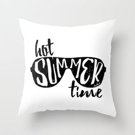 Hot Summer Time Throw Pillow