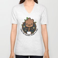 Save the Galaxy, Plant a Groot Unisex V-Neck