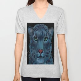 The Blue Leopard Unisex V-Neck