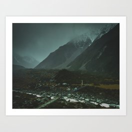 Hiking around the Mountains & Valleys of New Zealand Art Print
