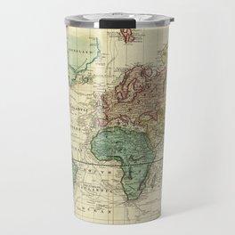 Vintage Map of The World (1823) Travel Mug