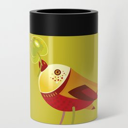 Bird With Apple Can Cooler