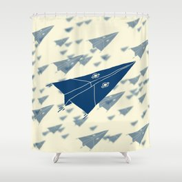 Paper Airplane 11 Shower Curtain