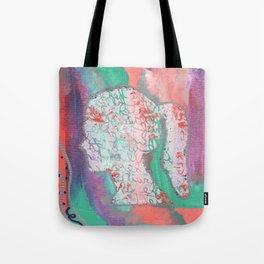 Growth Abstract Painting Tote Bag