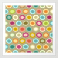 buffy Art Prints featuring polka buffy by Sharon Turner