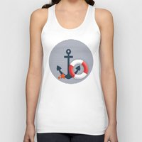 nautical Tank Tops featuring Nautical  by Miracle