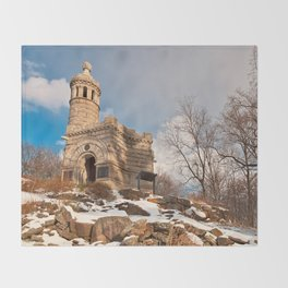 Winter Gettysburg Castle Throw Blanket