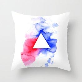 Watercolour triangle Throw Pillow