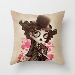 The Little Tramp Throw Pillow