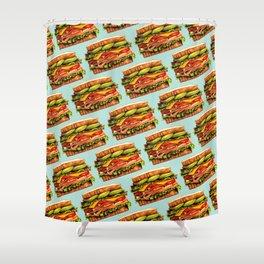 Sandwich Pattern - Turkey Shower Curtain