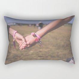 Women Holding Hands Rectangular Pillow
