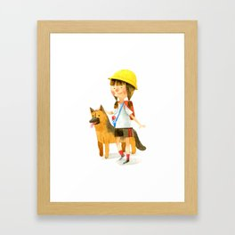 Totochan and Rocky Framed Art Print