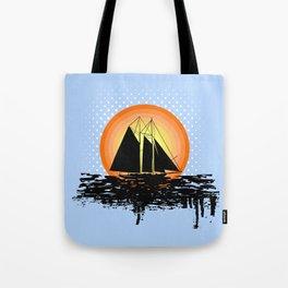 Grunge sailing Tote Bag