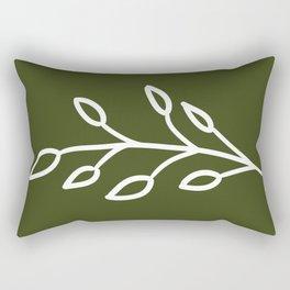 Feeling of lightness - Pine needle green Rectangular Pillow