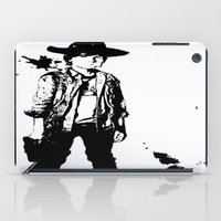 carl sagan iPad Cases featuring Carl Grimes  by Black And White Store