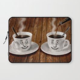 Hot Coffee Time in the Kitchen Laptop Sleeve