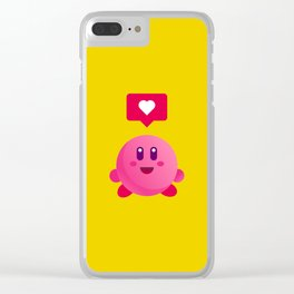 Kirby Love Clear iPhone Case