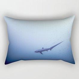 Thresher shark in the blue Rectangular Pillow