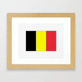 Flag of belgium-belgian,belge,belgique,bruxelles,Tintin,Simenon,Europe,Charleroi,Anvers,Maeterlinck Framed Art Print