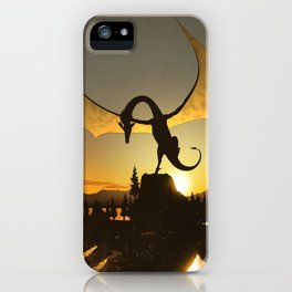 Dragon Sunset iPhone Case