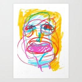 flash girl Art Print
